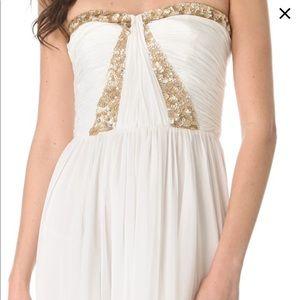 Rebecca Taylor S/M Formal White Prom Wedding Dress